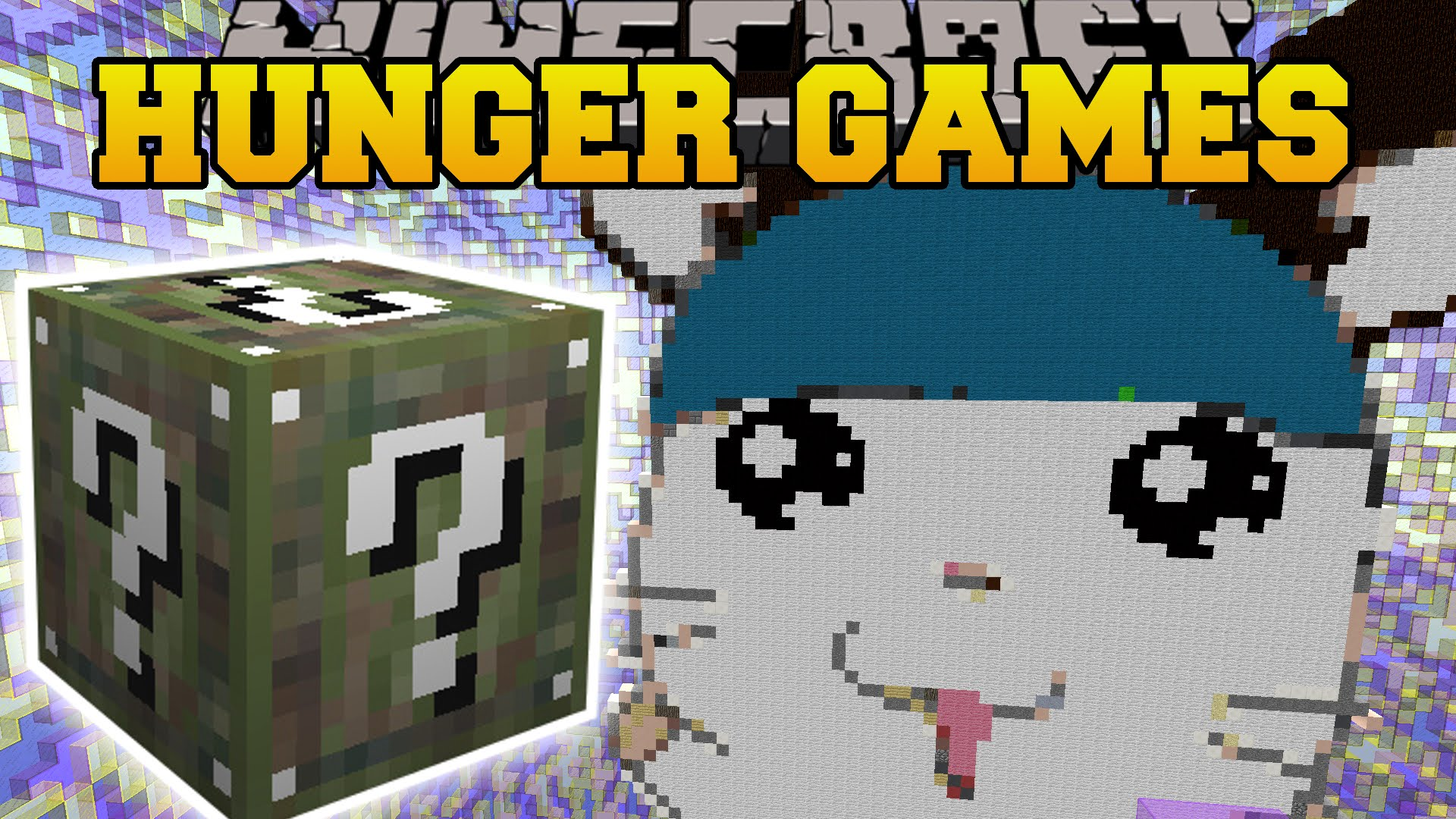minecraft giant hamster cage hunger games lucky block mod