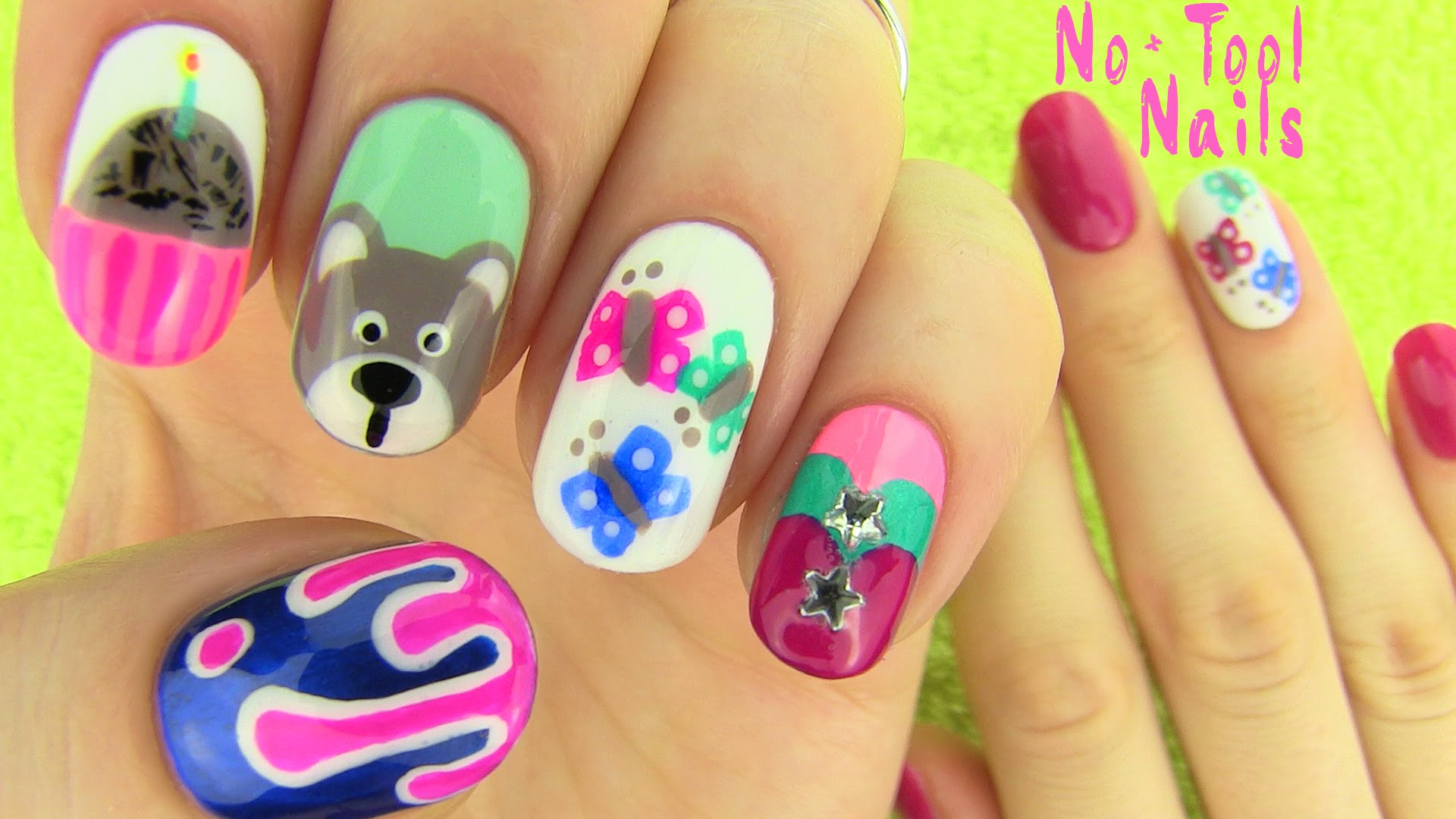 Nails Without Nail Art Tools 5 Designs