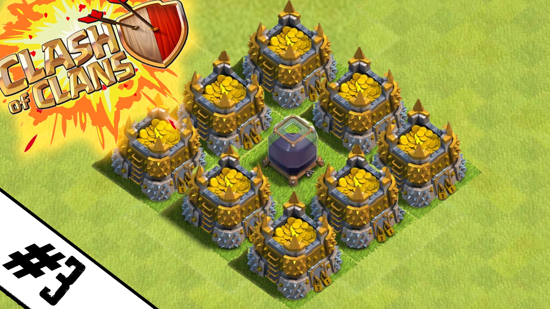 new epic town hall 8 farming base road to max th8 ep 3 clash of
