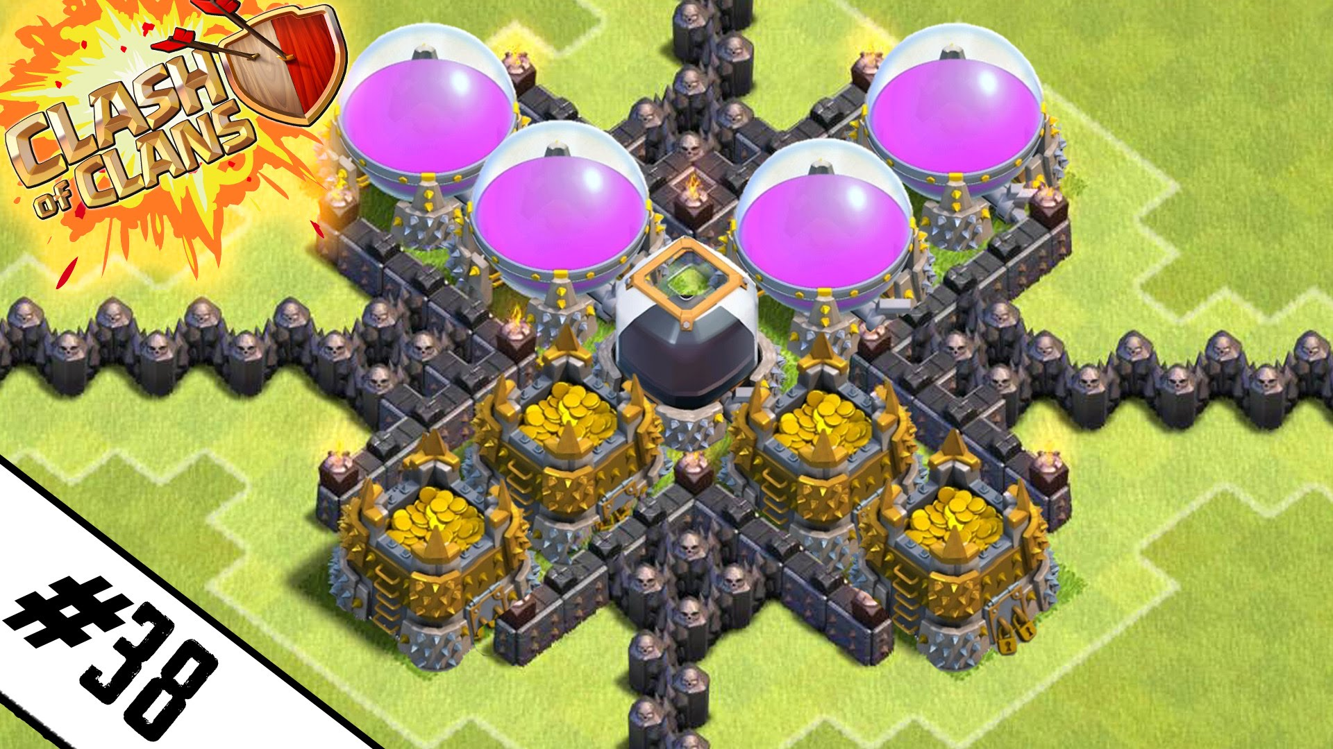 new epic town hall 9 farming base road to max th9 ep 38 clash of