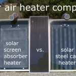 Solar Air Heater Comparison! – Steel Can Heater vs. Screen Absorber Heater (temp. tests)