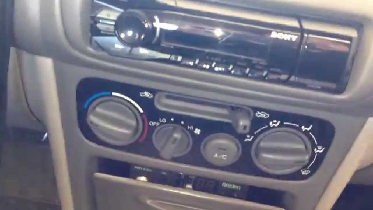 Sony Dsx A40ui Car Stereo Installation On 1998 1999 2000 2001 2002 Wiring Diagram Pinterest Toyota Corolla
