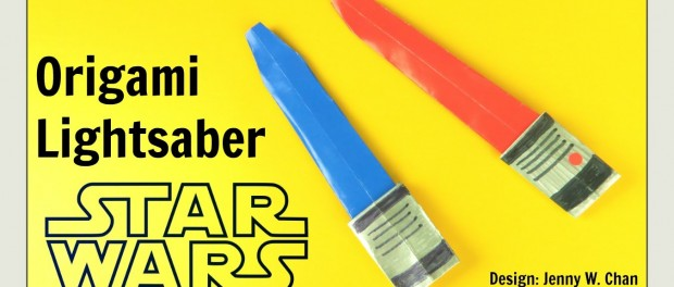 Star Wars Crafts – Origami Lightsaber – Star Wars Origami – DIY Paper Lightsaber