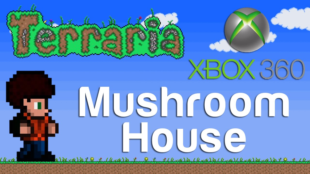 how to build a mushroom house terraria