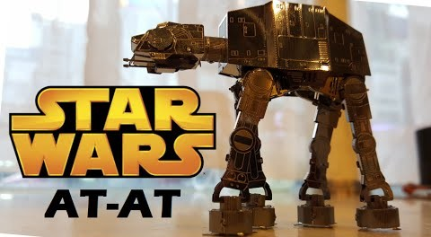 *DIY-For Star Wars Fan* How to assemble an AT-AT robot metal model kit!