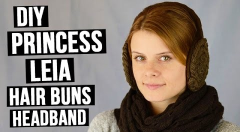 DIY Princess Leia hair buns headband