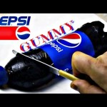 What Happens When You Mix Pepsi and Gelatin? (Giant Gummy Bottle)
