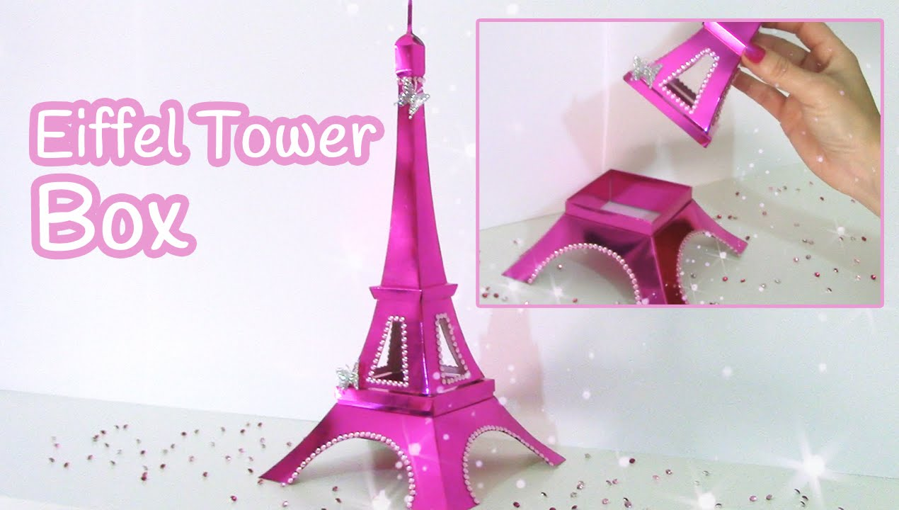 graphic regarding Eiffel Tower Template Printable named Do it yourself crafts: Eiffel Tower BOX Innova Crafts do it yourself.fyi