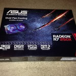 ASUS RADEEON R7 250X Box opening and Review 2gb