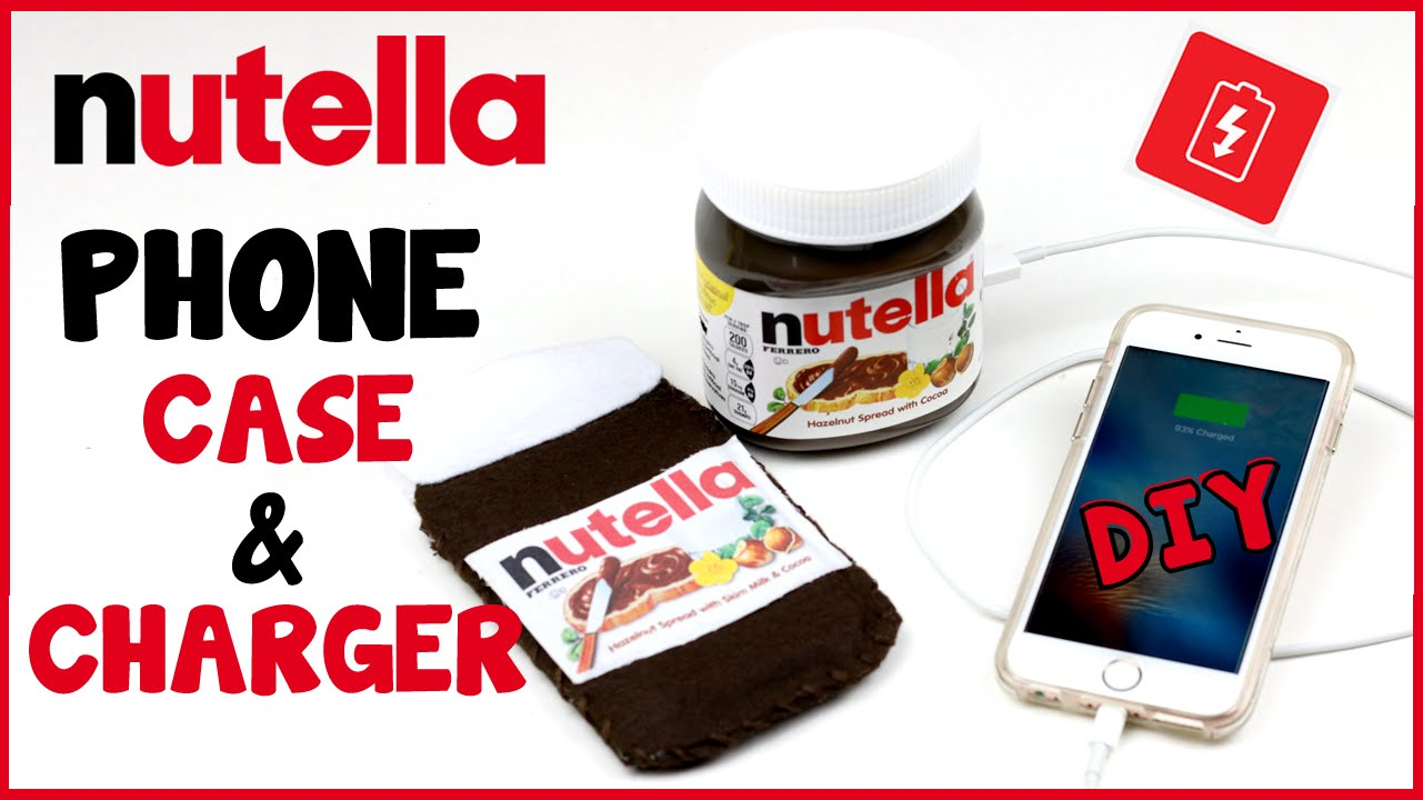 Diy Crafts Nutella Portable Phone Charger Phone Case Easy