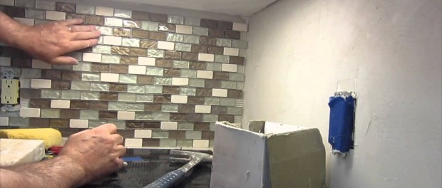 How to install a glass mosaic tile backsplash Parts 1,2 and 3