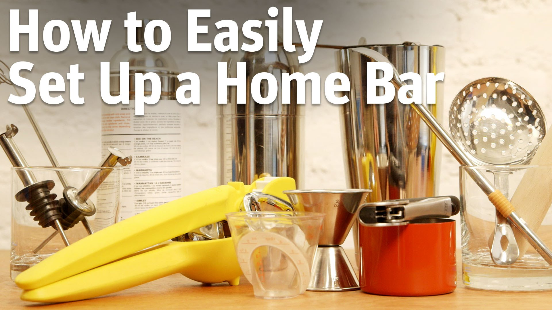 HowTo Easily Set Up A Home Bar