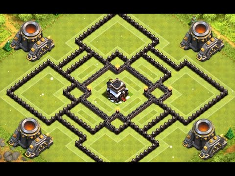 Clash of Clans – Town Hall 9 (TH9) Hybrid Base | diy.fyi