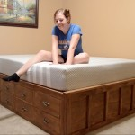 Build A Queen Size Bed With Drawer Storage
